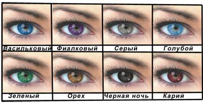 Цветные контактные линзы ежеквартальные Офтальмикс Colors, производитель Офтальмикс (Россия)