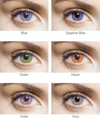 Цветные контактные линзы ежемесячные Fresh Look Colors для светлых и темных глаз, производитель CIBA Vision (США)