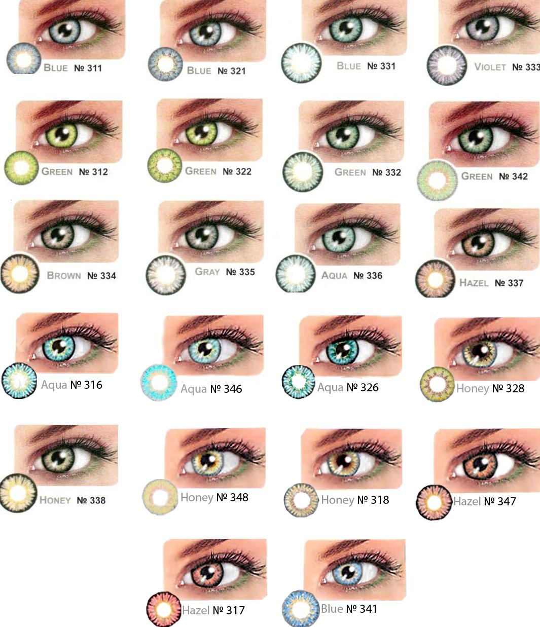 Как сделать что бы был зеленый цвет глаз