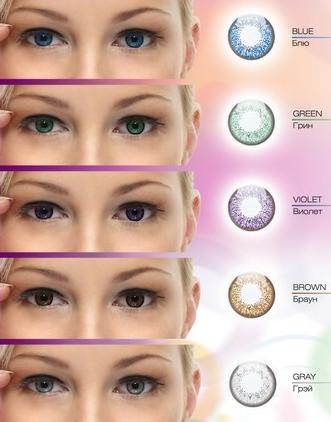 Линзы для глаз цвета